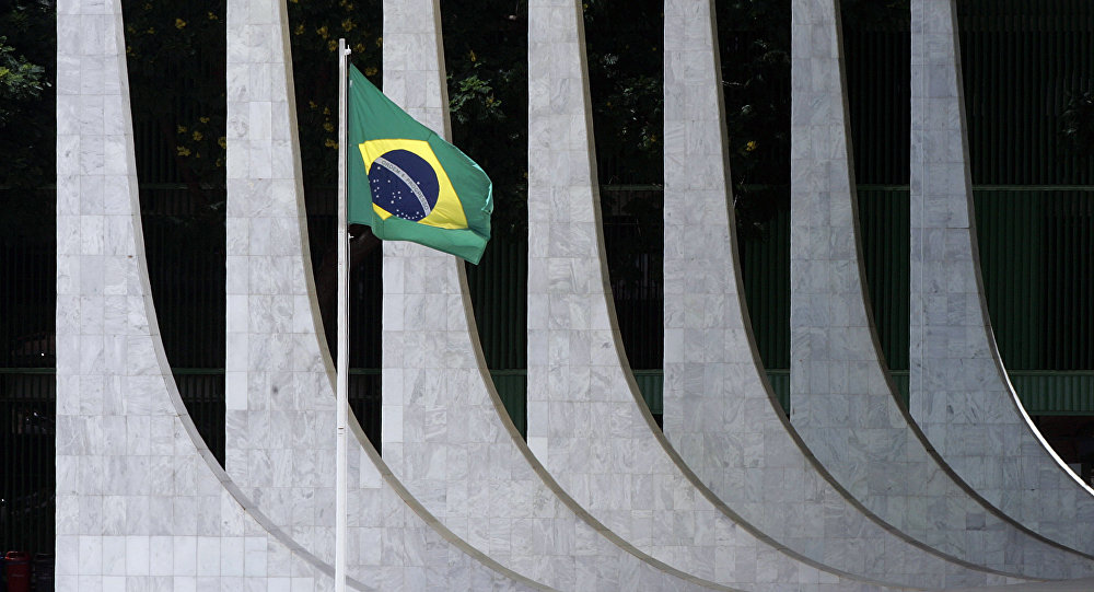 Edifício do Supremo Tribunal Federal em Brasília, Brasil (foto de arquivo)