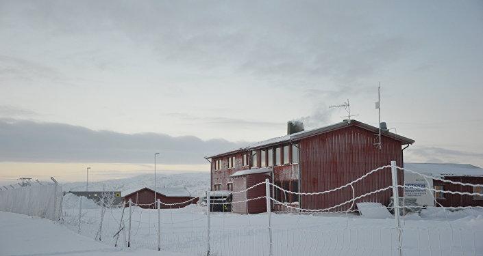 Campo de refugiados em Kirkenes na fronteira com a Rússia, Noruega, janeiro de 2016