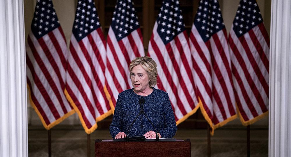 Hillary Clinton, candidata democrata à presidência dos Estados Unidos