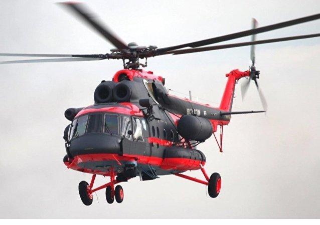 Helicóptero Mi-8AMTSh-VA modificado para o Ártico
