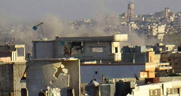 As cidades cercadas de Al Fuah e Kafarya