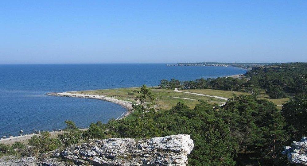 Panorama da ilha sueca de Gotlândia