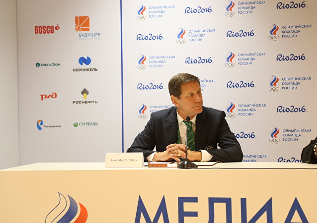 Chefe do Comitê Olímpico da Rússia, Alexander Zhukov, na Rio 2016