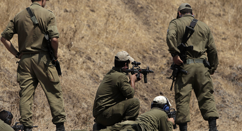 Soldados de Israel nas Colinas de Golã, 6 de setembro de 2016