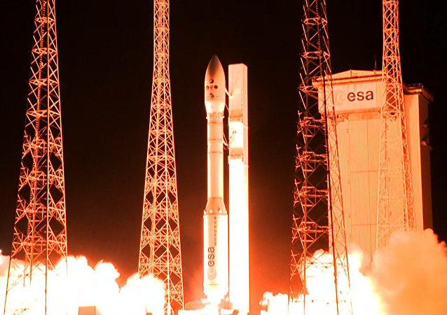 Centro Espacial de Kourou, na Guiana Francesa, durante o lançamento de um satélite peruano (arquivo)