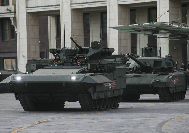 Tanques T-15 e T-14 Armata