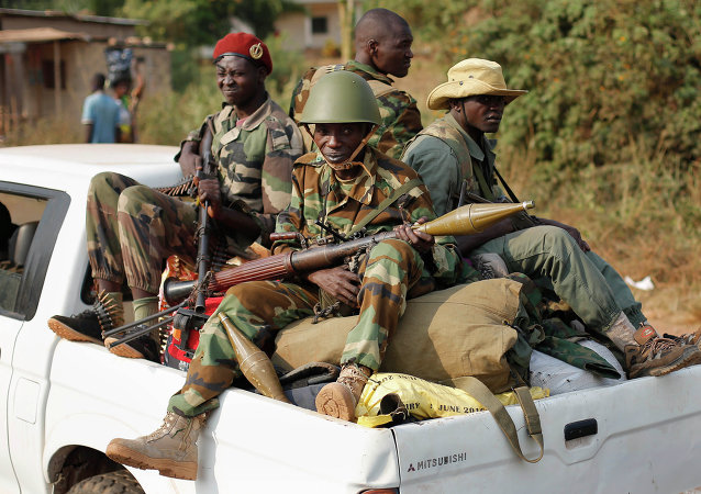 Milícia muçulmana Seleka em Bangui, capital da República Centro-Africana