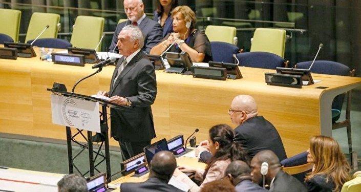 Temer na reunião sobre refugiados na ONU