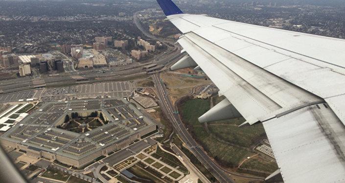Vista do Pentágono a partir de um avião