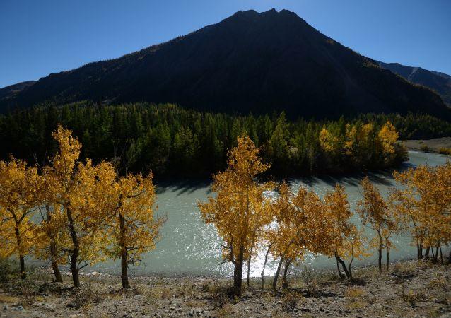 Rio Chuia na região de Altai
