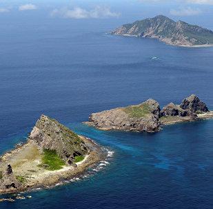 Grupo de ilhas disputadas no mar do Sul da China: Uotsuri, Minamikojima e Kitakojima denominados Senkaku no Japão e Diaoyu na China (foto de arquivo)