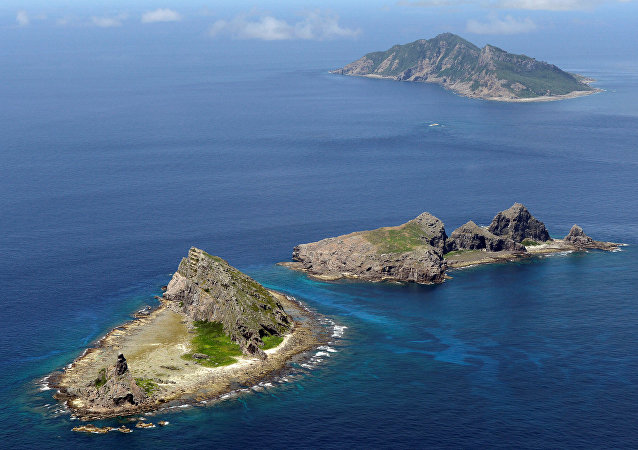 Ilhas Senkaku, no mar da China Oriental