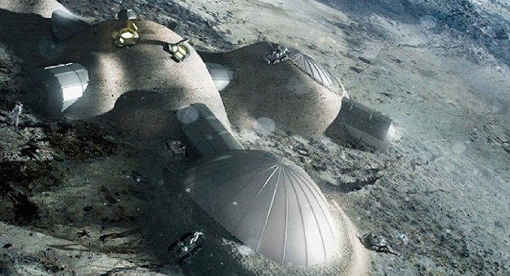 Imagem do projeto da ESA Aldeia Lunar