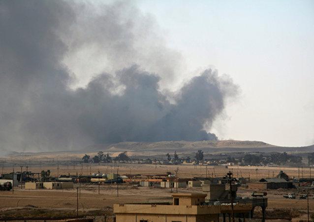 Qayyara, Iraque, em 24 de agosto de 2016