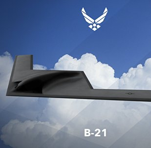 Bombardeiro estratégico B-21 norte-americano