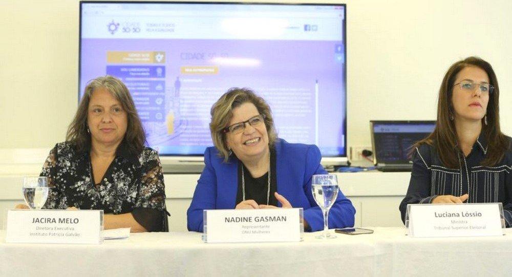 Lançamento da plataforma online Cidade 50-50_Todas e Todos pela Igualdade