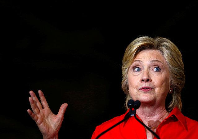 Candidata à Presidência dos EUA pelo Partido Democrata, Hillary Clinton