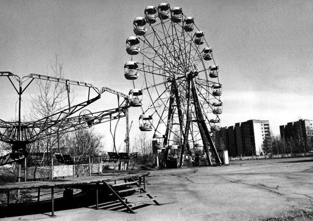 A cidade-fantasma de Pripyat na zona de alienação de Chernobyl
