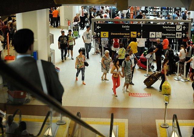 Movimentação no Aeroporto Santos Dumont