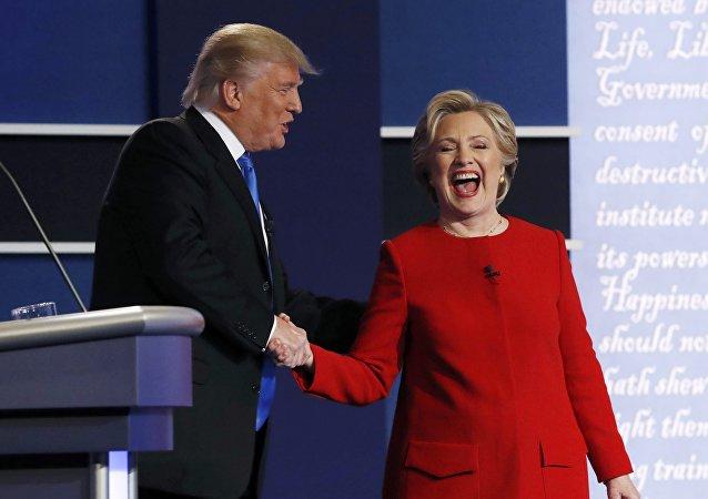 Debate presidencial dos EUA entre  Donald Trump e Hillary Clinton
