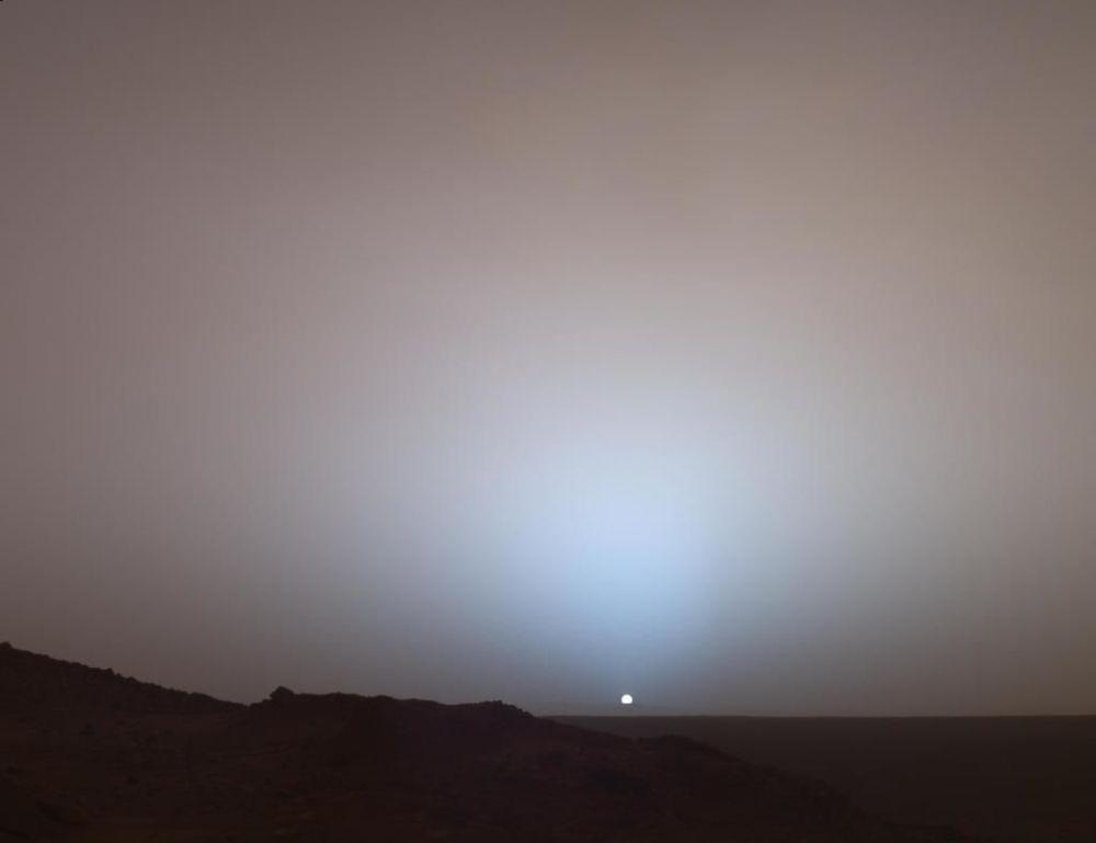 Pôr do sol marciano