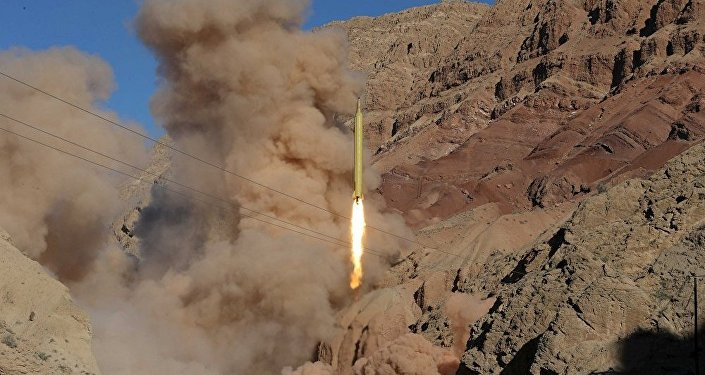 Míssil balístico iraniano lançado a partir de terreno desconhecido, 9 de março de 2016
