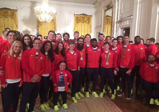 Equipe olímpica e paralímpica dos EUA na Casa Branca