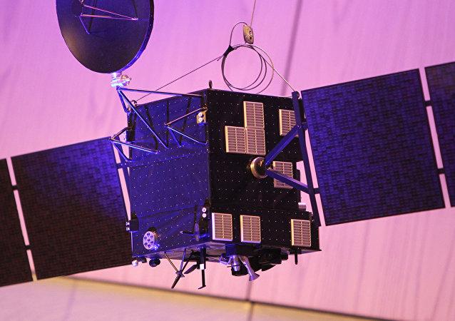 Um modelo da sonda Rosetta