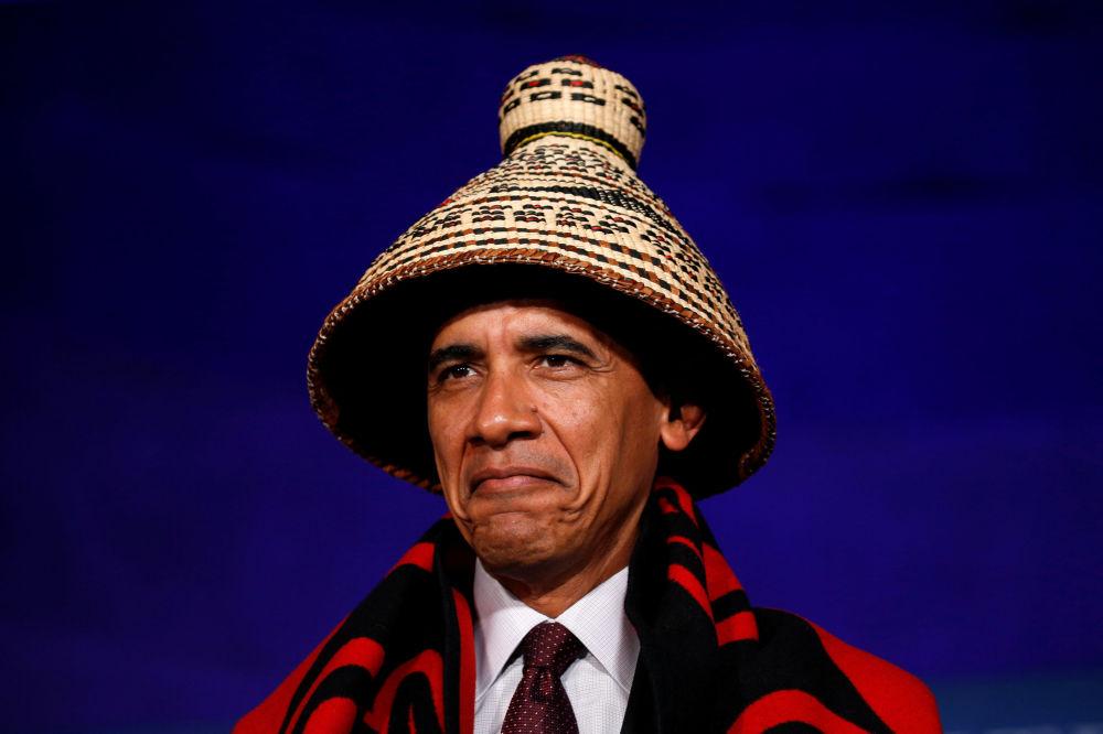 Presidente norte-americano Barack Obama antes de discursar na Conferência de Nações Tribais na Casa Branca em Washington, EUA. 26 de setembro de 2016