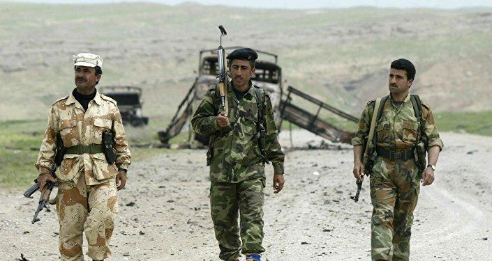Combatentes de Peshmerga, forças do Curdistão iraquiano (foto de arquivo)