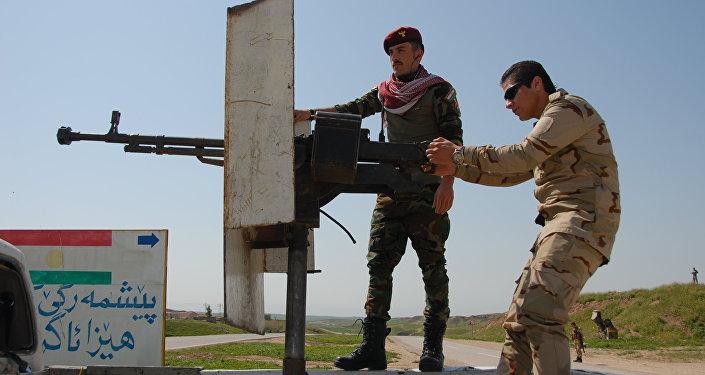 Soldados peshmerga preparam-se para a operação de liberação de Mossul, Iraque, outubro de 2016