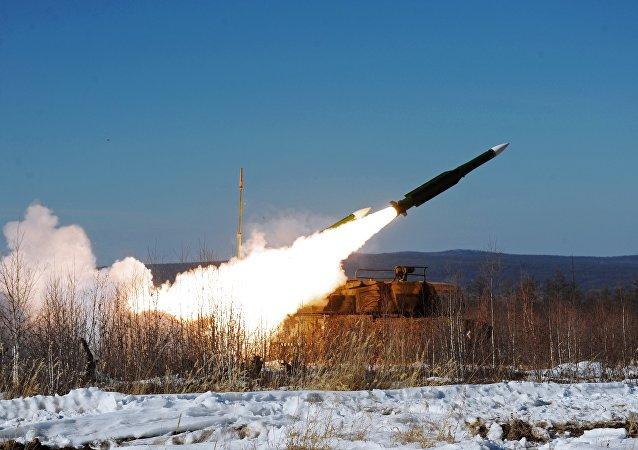 Treinamento no Distrito Militar Oriental da Rússia