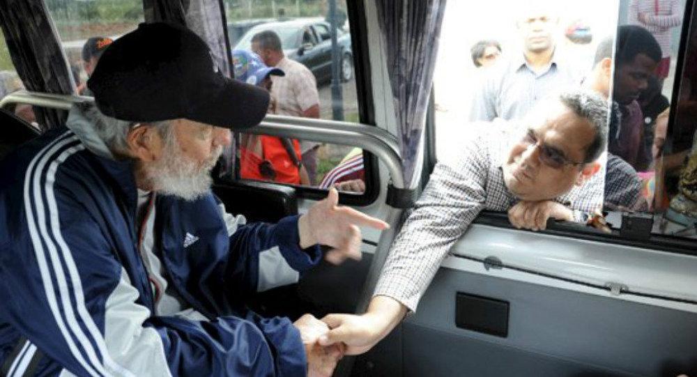 ex-presidente cubano Fidel Castro aparece em público em 30 de março 2015