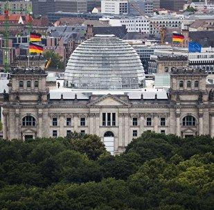 Edifício do Reichstag, sede do parlamento alemão, Berlim
