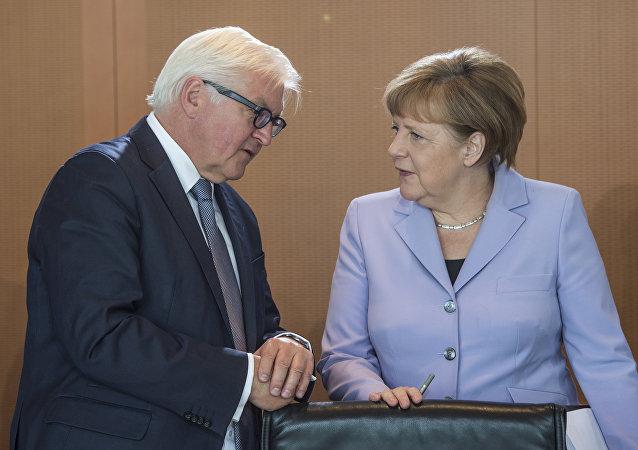 Angela Merkel e Frank-Walter Steinmeier
