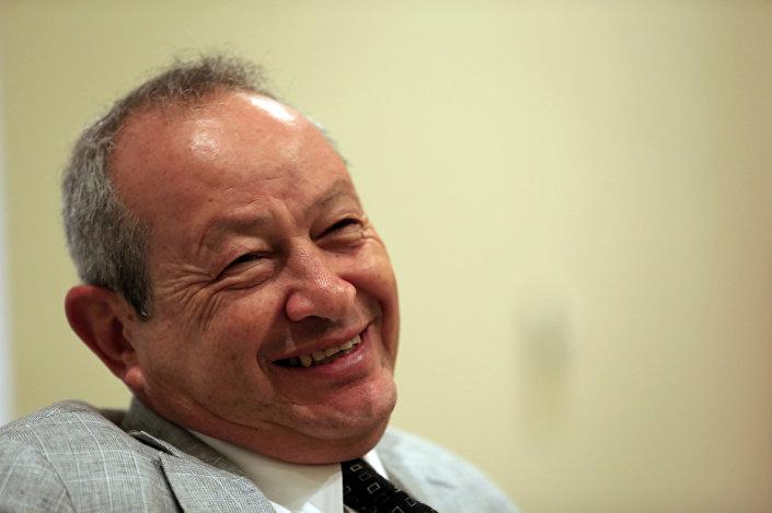 Naguib Sawiris durante uma entrevista em 13 de março de 2015 no Egito