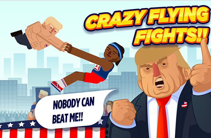 Jogo de combate com personagem de Donald Trump