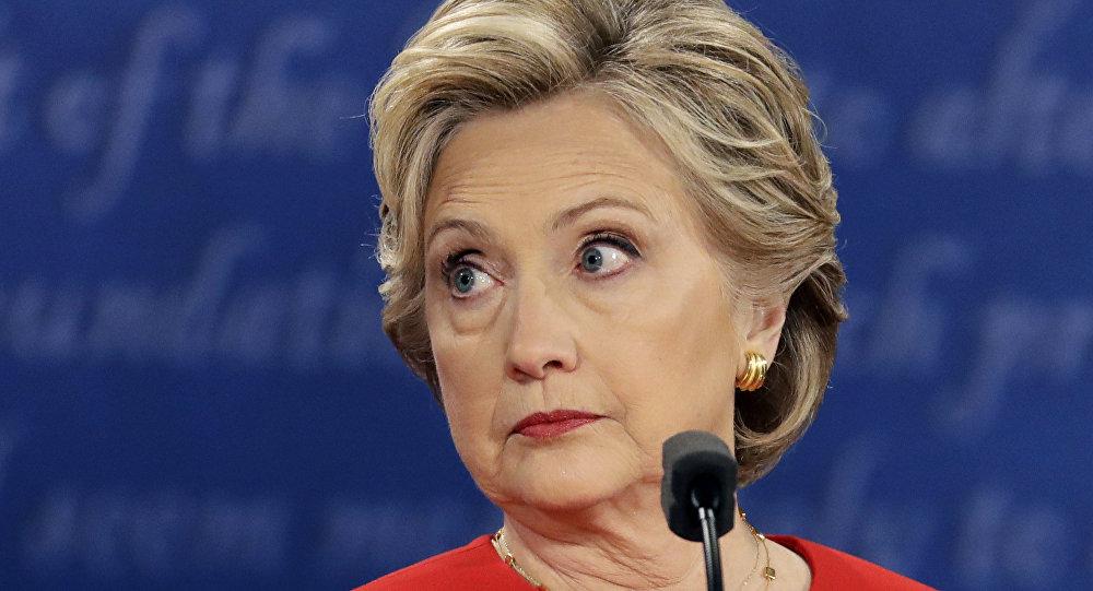 Hillary Clinton vista em 26 de setembro de 2016, durante o debate presidencial no estado de Nova York
