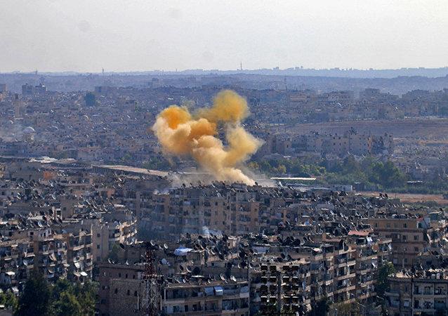 Cidade de Aleppo na Síria