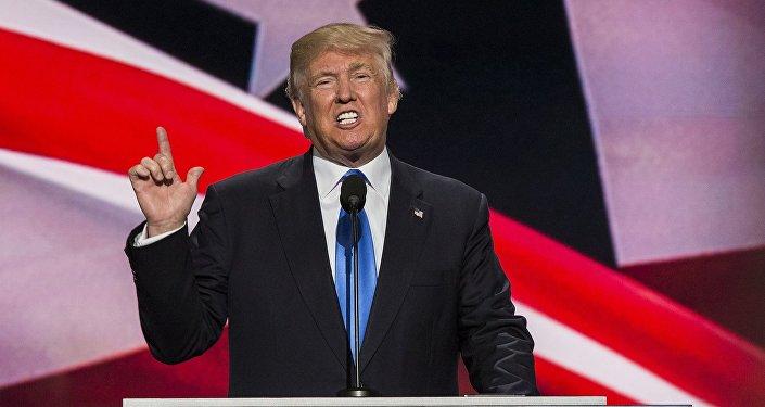 Candidato republicano à presidência Donald Trump
