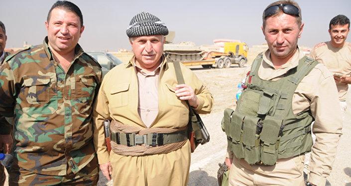 Hemze Salih, combatente peshmerga de 72 anos, Mossul, Iraque, outubro de 2016