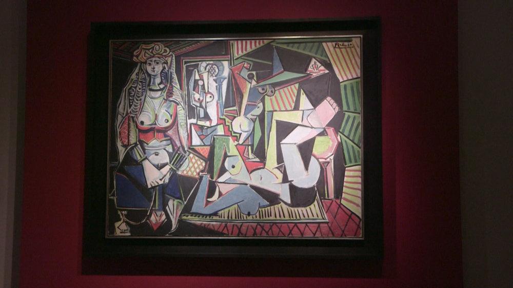 As mulheres de Argel (1955). Esse quadro se tornou o mais caro da história dos leilões de arte em 2015, quando foi arrematado por US$ 179,3 milhões (cerca de R$ 537 milhões) na casa Christie's, em Nova York