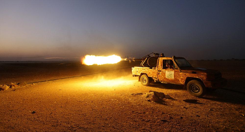 Forças rebeldes em atividade na província de Aleppo em 22 de outubro de 2016