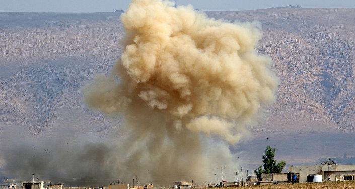 Fumaça na cidade de Mossul, Iraque (foto de arquivo)