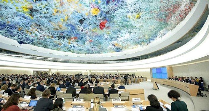 Saguão do Conselho de Direitos Humanos das Nações Unidas