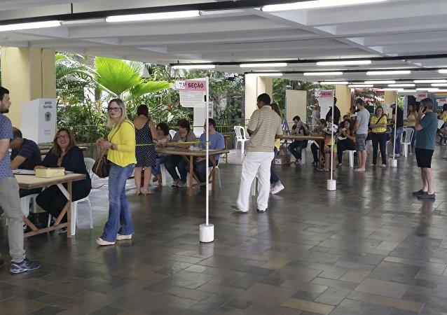 Seção eleitoral nas Eleições Municipais de 2016