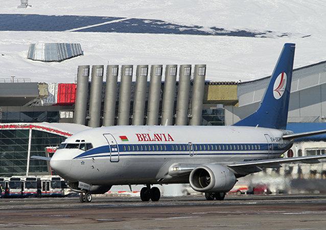 Avião da companhia aérea Belavia