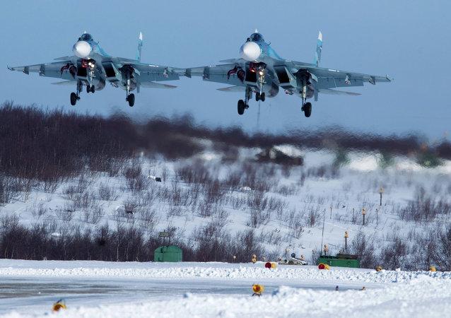Exercícios de aviação da Frota do Norte russa