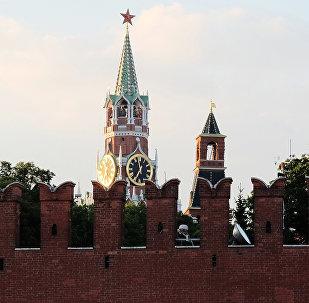 Torres do Kremlin de Moscou, agosto de 2016