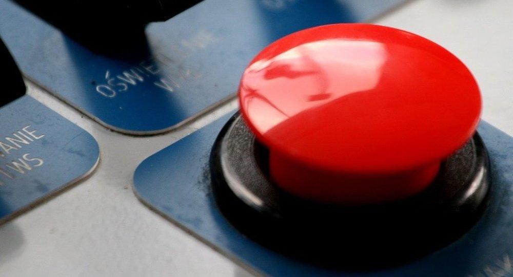 O grande botão vermelho
